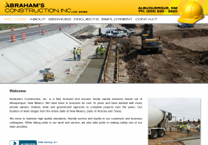 Construction Company Web Design